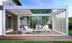 Copertura amovibile e vetrate scorrevoli, modello Solco Big con guarnizioni in alluminio