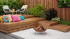 Decking and fire pit