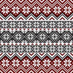 Noordse sneeuwvlok patroon — Stockillustratie #8407219