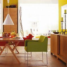 wohnzimmer esszimmer beige braun steinwand laminat teppich, Deko ideen