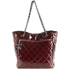 Chanel Veau Ver Grand Shopping N/S Tote