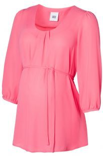 Maternity Top Hot Pink Non Clingy Sleeved
