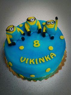 Mimoni, minions cake :-) Minions, Birthday Cake, Desserts, Food, Tailgate Desserts, Deserts, The Minions, Birthday Cakes, Essen