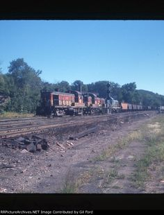 B&M 1507. Alco RS-3 (1954), class DRS-1e serial number 80734. B&M SJ-1. At Greenfield,MA.