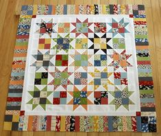 simple traditional star quilt - pattern by Carrie Nelson in her book Schnibbles Times Two