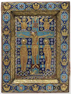 Book-cover with the Crucifixion