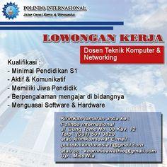 INFO LOKER DOSEN SURABAYA HUBUNGI HATSAPP : 0857 3634 8579 Jl. Bung Tomo No. 08 Ngagel Wonokromo Surabaya Surabaya
