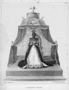 All hail the queen Adélina Lévêque Soulouque, or as she was known to her subjects. Her Imperial Empress Adélina, Empress of Haiti.