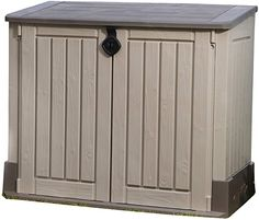 Amazon.com : KETER Store-It-Out MIDI 4.3 x 2.5 Outdoor Resin Horizontal Storage Shed : Portable Storage Shed : Garden & Outdoor Outdoor Wall Sconce, Outdoor Walls, Outdoor Furniture, Outdoor Decor, Portable Storage Sheds, Shed Storage, Gransfors Bruks, Marble Desk, Pool Shock