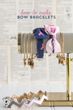 How to Make Bow Tie Bracelets .. a free sewing pattern by Melissa Mortenson of polkadotchair.com