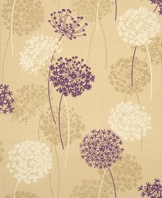 Whitewell Interiors Meadow Wallpaper Gold/Plum