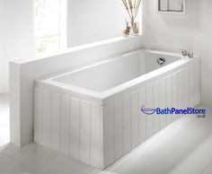 Top Quality Bathroom Tongue and Groove Style MDF High Gloss White 1 Piece Bath Panels These are Top Quailty British Made Bath panels in a High Wooden Bath Panel, White Bath Panel, Hidden Bath, Bathtub Makeover, Bathroom Paneling, Thing 1, Stainless Steel Screws, Tongue And Groove, Pvc Vinyl