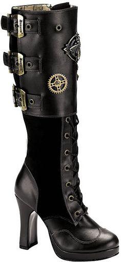 Crypto-302, Steampunk Boots, Cyberpunk Boots, Demonia, Punk Boots, Punk Rock Boots, Gothic Boots, Goth Boots, Cyberpunk Boots, platform Boots