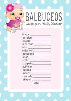 77 Mejores Imagenes De Juegos Para Baby Shower Baby Boy Shower