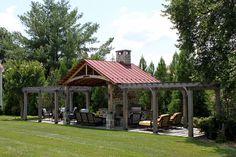 backyard pavillion with solar panels - Yahoo Search Results Backyard Pavilion, Outdoor Pavilion, Backyard Patio, Outdoor Rooms, Outdoor Gardens, Outdoor Living, Backyard Covered Patios, Covered Pool, Gazebo