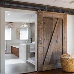 6.6' Interior Sliding Barn Wood Door Hardware Set T Style Coffee