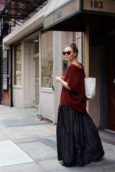 The Sartorialist / On the Street…Mott St., New York // The Sartorialist, Estilo Hipster, Estilo Boho, Look Fashion, Autumn Fashion, Womens Fashion, Dress Fashion, Mein Style, Bohemian Mode