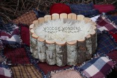 Image of Rustic, Cabin Style, Hand Crafted Log Basket from the Pacific Northwest!