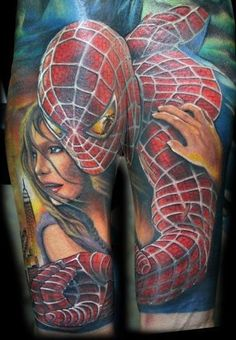 spider man #tattoos #tatuaze
