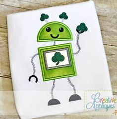 robot-clover-shamrock-applique