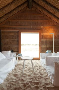 Let's escape to Casas Na Areia - a beautiful retreat designed by Manual Aires Mateus in Comporta, Portugal. Hotel Portugal, Lisbon Portugal, Sand Floor, Sweet Home, Interior Exterior, Room Interior, Beach Cottages, Home And Deco, Coastal Living