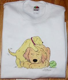 Whimsical Golden retriever Patience shirt ALL SIZES AVAILABLE. $20.00, via Etsy.