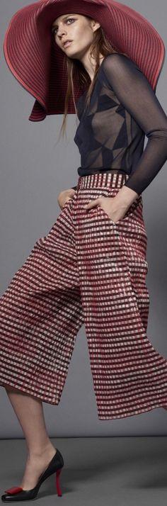 Resort 2016 Giorgio Armani women fashion outfit clothing style apparel @roressclothes closet ideas