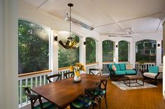 Inviting Deck With Screened Porch :: Hometalk