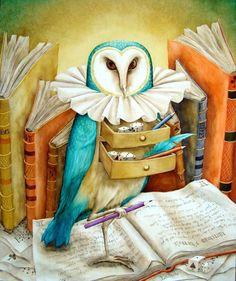 "French contemporary artist, Agnes Boulloche ""owl"""