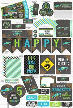 New monster truck birthday party signs 44 ideas Festa Monster Truck, Monster Truck Birthday, Boy Birthday, Monster Trucks, Monster Jam, Chalkboard Party, Birthday Chalkboard, Chalkboard Printable, Birthday Party Decorations