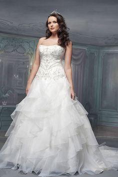 White rose wedding dress
