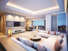 ایدههایی برای طراحی اتاق نشیمن لوکس