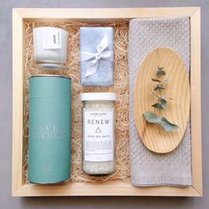 A custom Teak & Twine spa gift box for a May birthday girl! hello@teakandtwine.com