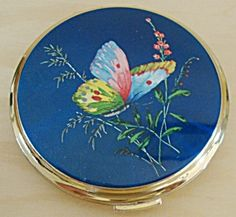 Butterfly Design Stratton Powder Compact Vintage