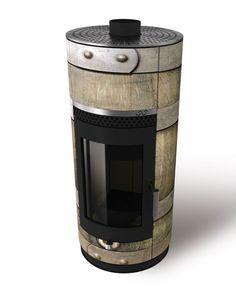 Wood-Bockstove houtkachel in oude ton uitvoering.