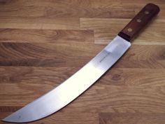 "new Vintage UTICA Carbon Steel RAZOR SHARP 10"" blade USA Butcher Cimeter Knife"