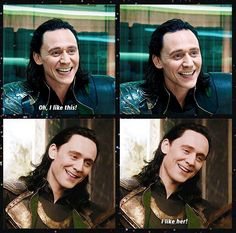 "When he said "" I like her."" my heat melted, i got goosebumps, and i wished i was her. He said it so... LOKI!!!"
