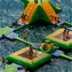 I must vacation wherever this water playground is!