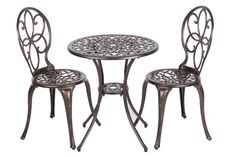 Patio Furniture Sets - Patio Sense 3Piece Antique Bronze Cast Aluminum Bistro Set >>> Check this awesome product by going to the link at the image. (This is an Amazon affiliate link)