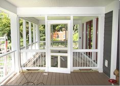 Pergola Attached To House Plans Screened Front Porches, Screened Porch Designs, Enclosed Porches, Decks And Porches, Covered Back Porches, Screened Porch Decorating, Covered Decks, Porch Kits, Porch Ideas