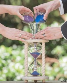 The Natural Unity Sand Ceremony Hourglass in Poplar or Oak .- The Natural Unity Sand Ceremony Hourglass™ in Poplar or Oak by Heirloom Hourglass - How To Dress For A Wedding, On Your Wedding Day, Wedding Tips, Perfect Wedding, Wedding Events, Wedding Planning, Wedding Hacks, Dream Wedding, Wedding Unity Ideas