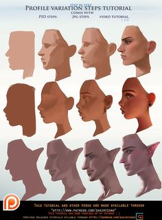 Profile variation steps tutorial pack .promo. by sakimichan.deviantart.com on @DeviantArt