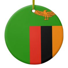 Zambia Flag Ceramic Ornament - home gifts ideas decor special unique custom individual customized individualized Zambia Flag, Political Events, National Flag, Home Gifts, Little Gifts, Create Yourself, Banner, Flags, Ceramics