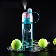 600ml Creative Water Spray My Sports  Bottle Water For Bottle Straw Space Cup Resistant Nutrition Cycling Bike Bottles Tumbler