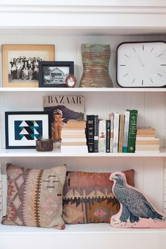 Shelves in the home of Janette Crawford of Sun + Dotter | photos by Maria del Rio for Camille Styles