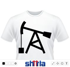 Petroleum Oil is a powerful political issue from green house gases and global warming to poverty. Use this nodding donkey oil well field shape to get your pro or anti message to get your point across on a t-shirt.  Found in Texas
