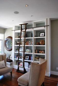 Great for a formal living room. Love the library ladder look. Would look nice on one side of the fireplace.