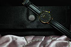 Our Black Leather in Black-Gold is a modern look with a touch of luxury. Bold black is accented with gold accents, making this sleek watch perfect for days out and nights in. Black Gold, Black Leather, 316l Stainless Steel, Gold Accents, Shots, Touch, Watches, Crystals, Luxury