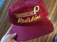ad98b61c519 RARE 1990s Vintage Annco Script NFL Washington Redskins Snapback Cap Hat  Taiwan