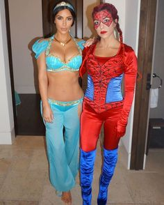 Kim & Kourtney for Halloween this year!  #kimkardashian #kourtneykardashian